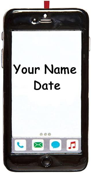 个性化的 2019 IPhone 手机圣诞装饰品礼物手机短信瘾君子情人您的自定义名称和年份的选择