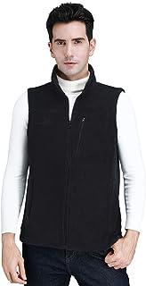 CAMEL CROWN Fleece Vest Men Women Full-Zip Sleeveless Jacket Plus Size with Pocket Lightweight Casual Gilet