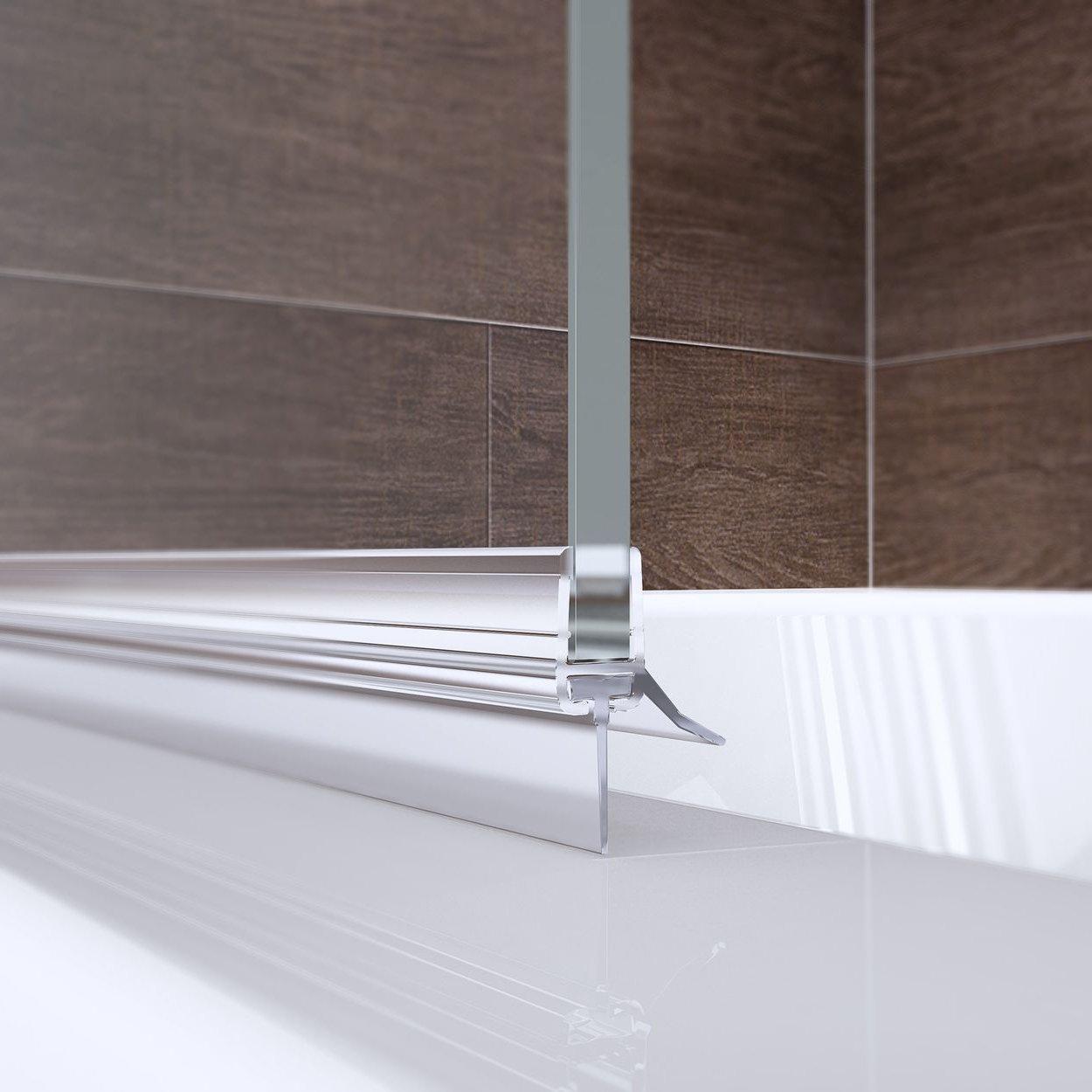 Schulte 4061164001711 ducha pared pendolo, bisagra izquierda, 2 piezas con fijo Element, cristal de seguridad transparente 6 mm, perfil Color, mampara para bañera, efecto cromo), 120 x 140 cm: Amazon.es: Bricolaje y herramientas