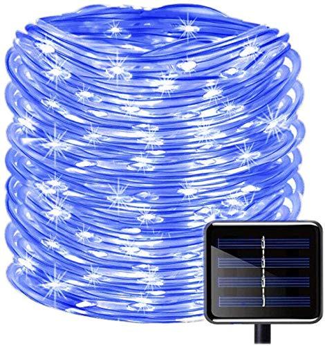 Solar Rope Lights, EONANT 39ft / 12M 100LED Impermeabilice las Luces de Cadena de Alambre de Tubo de Cobre para Jardín, Patio, Camino, Cerca, Escaleras, Patio Trasero, Patio Decorativo (Azul)