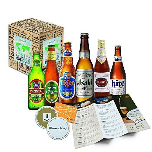 """Bier aus Asien"" Bier aus China, Thailand, Japan, Vietnam, Korea und Indien (Tsingtao, Chang Bier, Saigon, Hite, Asahi, Cobra) 6x0,33l"