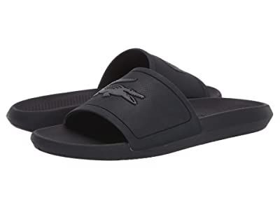 Lacoste Croco Slide 319 1 (Black/Dark Grey) Men