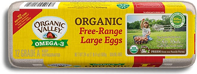 Organic Valley, Organic Omega-3 Free-Range Large Brown Eggs - 1 Dozen (12 ct)