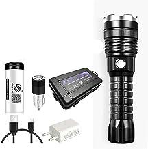 Krachtige LED-zaklamp XHP50 Zoomable Torch Oplaadbare Waterdichte Lamp Ultra Heldere Lantaarn door 26650 Batterij (Emittin...