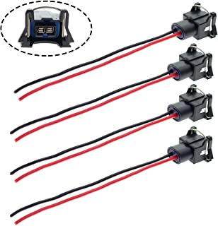 MOTOALL Fuel Injector Connector EV1 OBD1 Plug Wire Harness Pigtail Wiring Loom Clip 2-Wire Female for TPI LT1 LS1 LS6 RC TRE - 4pcs