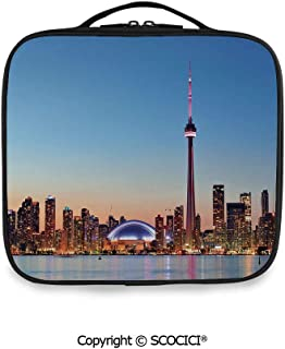 SCOCICI Fashion Personalized Travel Storage Bag Canadian Skyline Toronto City with Lake Panorama at Evening Urban Scenery Decorative for Daily Use, Ourdoor,Wedding etc(One Size)