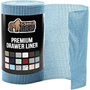 Gorilla Grip Original Drawer and Shelf Liner, Strong Grip, Non Adhesive, Easiest Install, 12 Inch x 20 FT Roll, Durable and Strong Liners, Drawers, Shelves, Cabinets, Storage, Kitchen for Desks, Aqua
