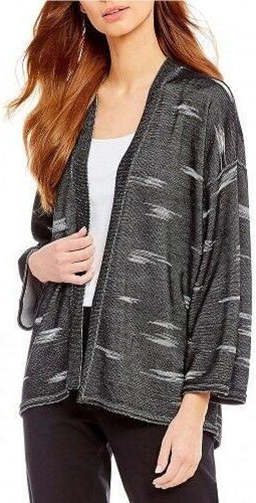 Eileen Fisher Black Sleek Tencel Kimono Cardigan Size
