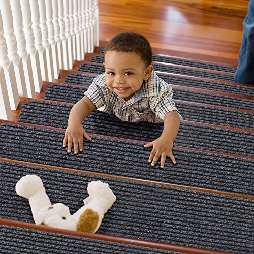 TreadSafe Carpet Stair Treads Non-Slip | 8