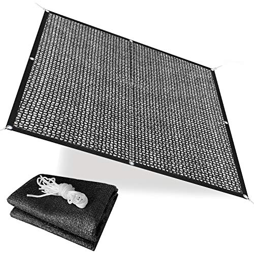 Alion Home 40% Sunblock Shade Cloth with Grommets - UV Resistant Garden Netting - Sun Shade Cover for Garden Patio Plants - Black (6' x 6')