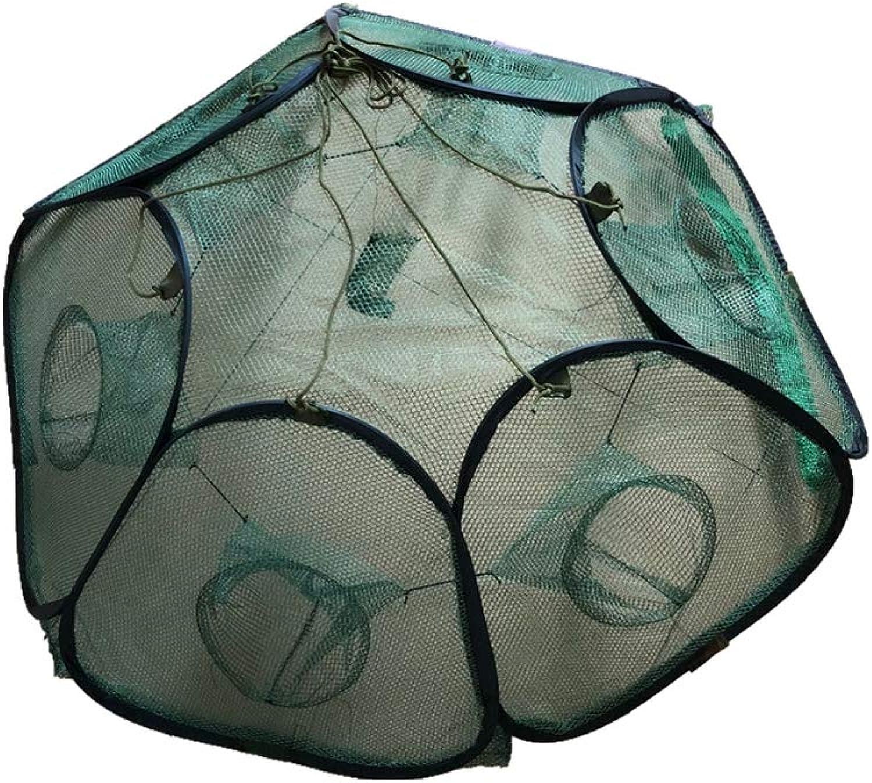 BYWWANG 6 lcher Falten fischernetz Outdoor Werkzeug fischernetz garnelenfalle fischernetz garnelenkfig fischkfig fischfalle liefert
