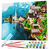 Paint by Numbers for Adults, Beginner to Advanced, Framed Canvas Kit, 16x20' Frame, Acrylic DIY Painting by...
