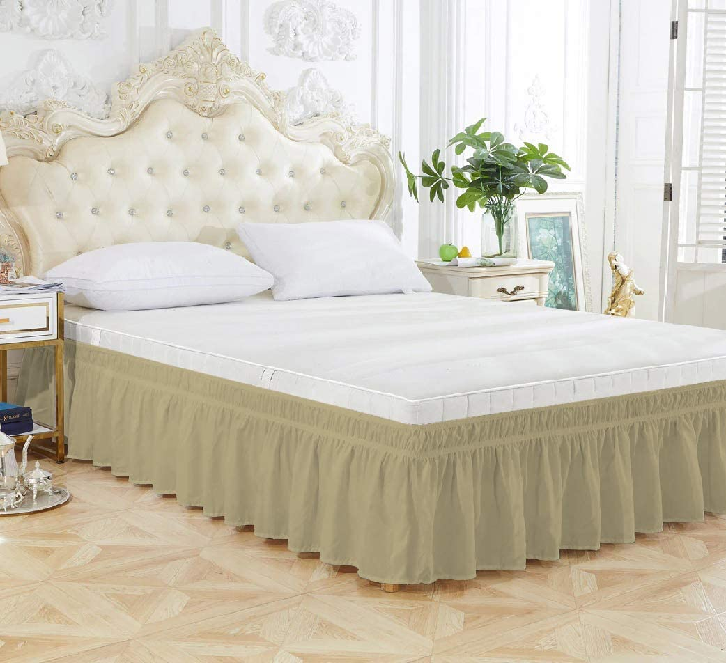 Taupe Solid - Wrap Around Bed 1-Piece 20