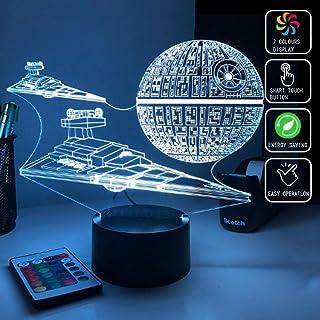 Star Wars Estrella De La Muerte Imperio Destructor 3D Acrí
