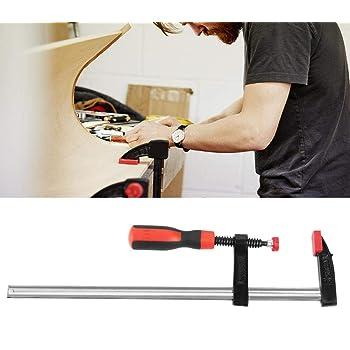 ideal para trabajos de carpinter/ía Juego de 4 abrazaderas de carpinter/ía de 100 mm con forma de F hechas de aleaci/ón de aluminio y pl/ástico de liberaci/ón r/ápida y con trinquete
