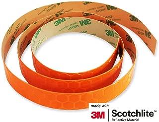 Salzmann 3M Scotchlite Reflective Sticker, Orange, 0.8'' x 39'', 1 Roll