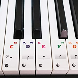 Piano Stickers for Keys, Gternity Colorful Piano Keyboard...