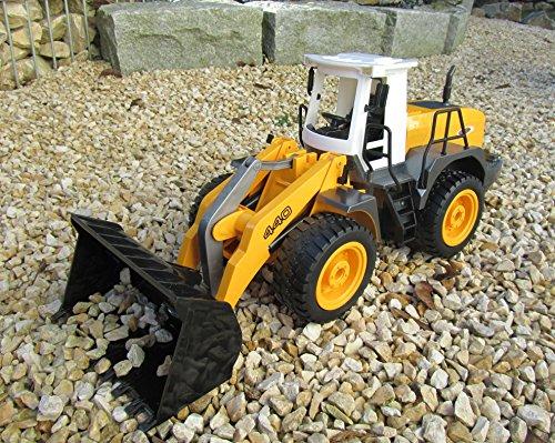 RC Auto kaufen Baufahrzeug Bild 2: Jamara RC Bagger Radlader Inklusive Kieselsteine 440 1:20 Länge 44cm Ferngesteuert*