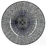 MamboCat Nagano 18-TLG. Teller Set I Schwarz + Linien-Muster I Essteller, Suppenteller & Kuchenteller I Steingut - 4