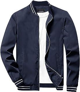 Sponsored Ad - CRYSULLY Men's Jacket-Spring Fall Casual Thin Full Zip Bomber Jacket Coat