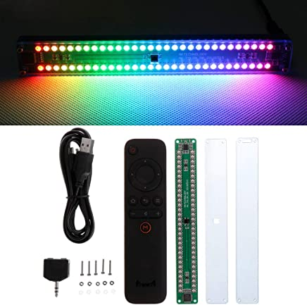 BIlinli Dual 30 Musique color/ée Audio Indicateur de Niveau de Spectre Amplificateur st/ér/éo VU-m/ètre