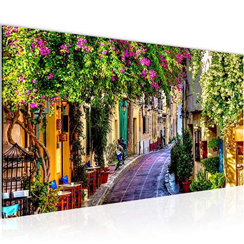 Runa Art Bilder Toskana Italien Wandbild Vlies - Leinwand Bild XXL Format Wandbilder Wohnzimmer Wohnung Deko Kunstdrucke Bunt 1 Teilig - Made IN Germany - Fertig zum Aufhängen 607712a
