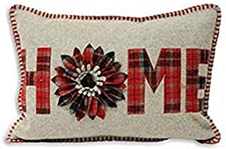 """Riva Paoletti """"Scottish Highlands Home Check"""" Cushion Covers, Grey/Red, 35 x 50 cm"""