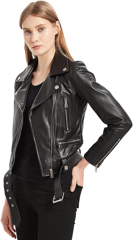Natural Genuine Leather Jacket Women Real Lam Slim Female Super shopping intense SALE