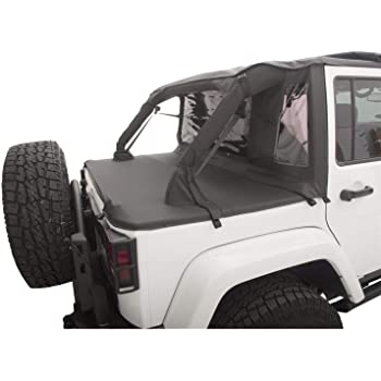 Black Denim RAMPAGE PRODUCTS 993015 Cab Top for Soft Top Half Door Vehicles Only Fits 1992-1995 Jeep Wrangler