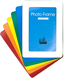 TOPINSTOCK Magnetic Picture Frames for Refrigerator 6 Colors Hold 4x6 Photos, 6 Pack