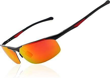 d7c3ce43ff Ronsou Men s Sport Aluminium-Magnesium Polarized Sunglasses For Driving  Cycling Fishing Golf Glasses