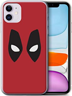 eSwish Gel TPU Phone Case/Cover for Apple iPhone 11 / Deadpool Mask Inspired Design/Super Hero Comic Art Collection