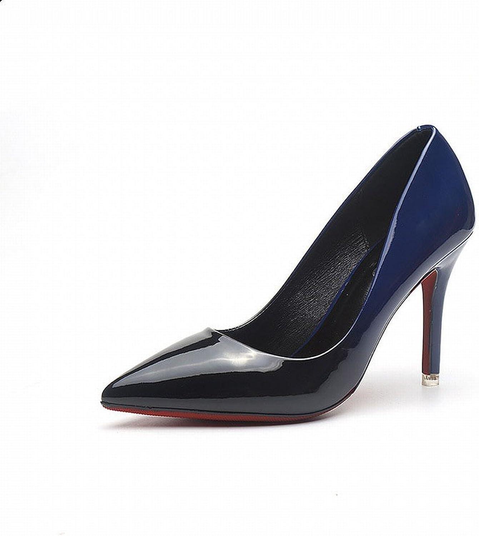 SED Spring-Western Spitzen Spitzen Flachen High Heels Mode Farbe Lackleder Lackleder Dünn mit Wilden Trendy Schuhe  nur für dich