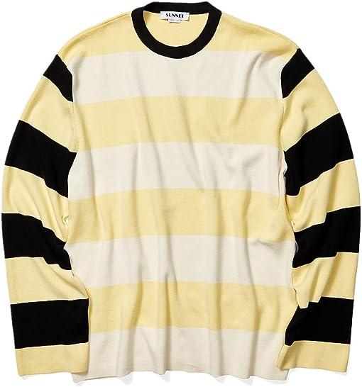 Off-White/Cream/Black Stripes