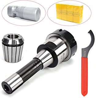 Er40 Collet Chuck R8 Shank w/ 15 Pc Collets Set Milling Cutter, High Precision Collet Chuck System for CNC Milling Lathe Tool Spindle Engraving MachinesER40Spanner ColletSet