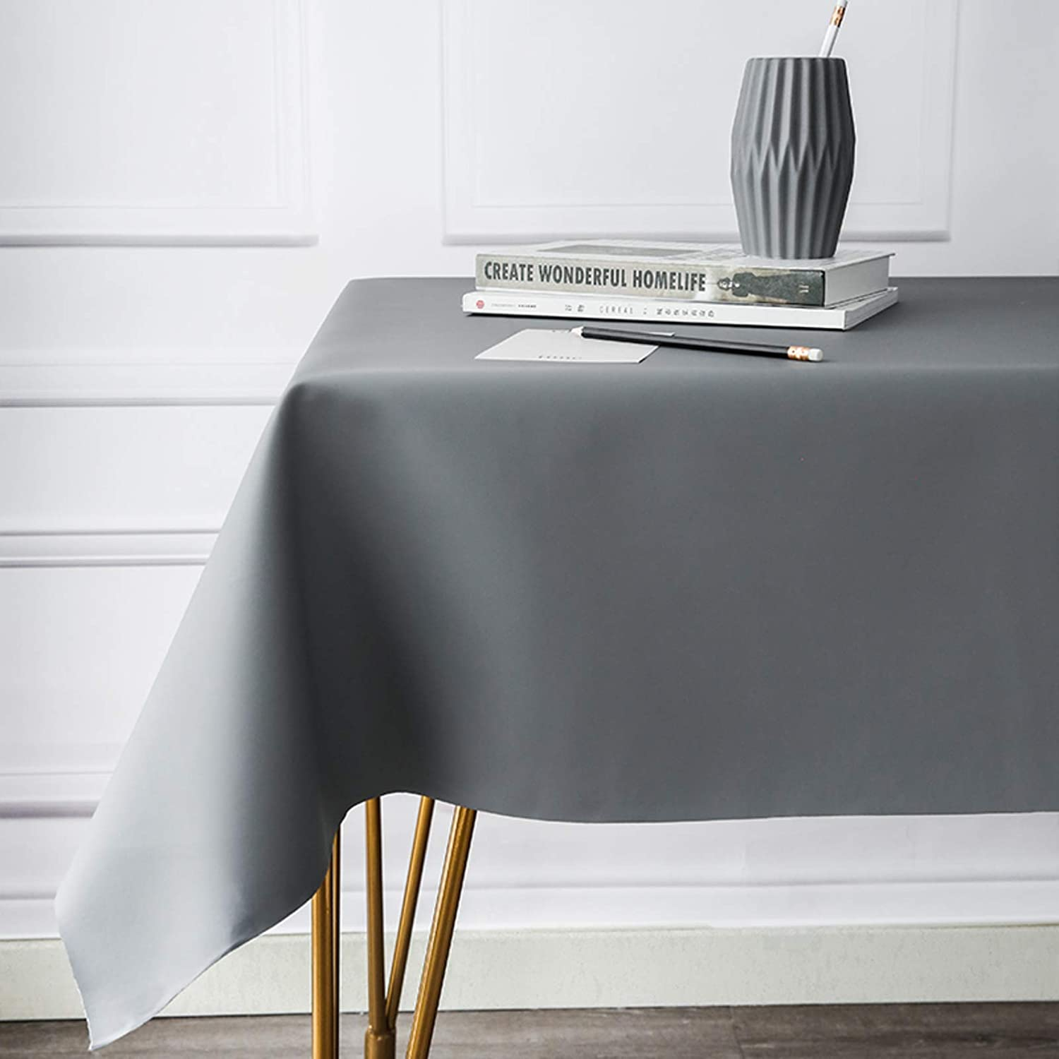 QSCV Oil-Proof Spill-Proof Stain Pu Leather Rectangle Tablecloth Direct store Discount mail order