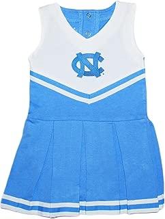 University of North Carolina UNC Tar Heels Baby and Toddler Cheerleader Bodysuit Dress