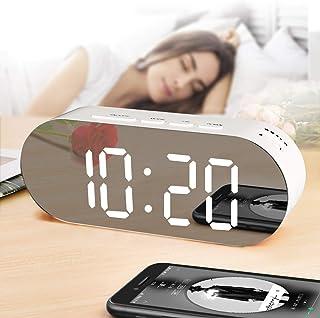 置き時計 led 目覚まし時計 大音量-ラージLED デジタル置時計 ダブルUSBポート付きled時計 置き時計 多機能 カレンダー 温度 湿度 時計 スヌーズ用のアラームタイマー 時計 目覚まし ベッドルームの飾り 日本語説明書付き