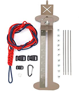 Tbest Paracord Bracelet Kit and Jig Set, Adjustable Steel Frame DIY Paracord Bracelet Making Kit with Hanks Free Buckles for Kid Creative Arts & Crafts Birthday Gift