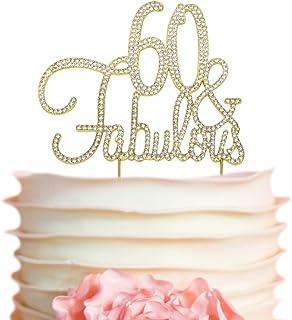 60 Fabulous GOLD Birthday Cake Topper