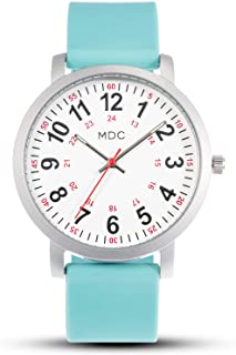 MDC Nurse Watch for Medical Students,Doctors, Nursing Watches for Women with Second Hand and 24 Hour, Waterproof, Silicone Band