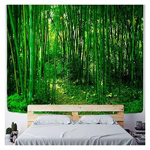Chenhan Tapiz Verde bambú Bosque Naturaleza tapicería diseño Madera Grano Tapiz Forestal Pared Colgando Sala de Estar decoración decoración del hogar árbol Pared Decoración de Arte