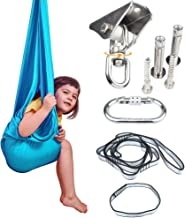 Sensory Swing Indoor + 360° Swivel Hanger Hardware, Double-Layer Lycra Hammock Swings for Kids to Play & Calm, Hanging The...