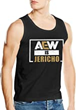 ThomLarryCA Aew is Jericho Men's Exercise Fitness Shirts Slim Premium Tank Top Black