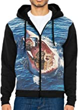 Anyako Cow Skull with Dream Catchers Hoodie Sweatshirt Men Hoodies Style Casual Zippers