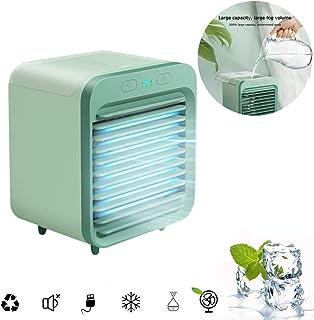XVBABY Mini refrigerador de Aire Personal, Aire Acondicionado portátil refrigerado por Agua Recargable Ventilador de enfriamiento de Escritorio Enfriador evaporativo Humidificador Purificar