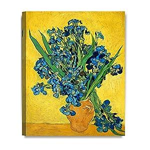 Silk Flower Arrangements DECORARTS - Irises Vase Flower, Vincent Van Gogh Art Reproduction. Giclee Canvas Prints Wall Art for Home Decor 20x16