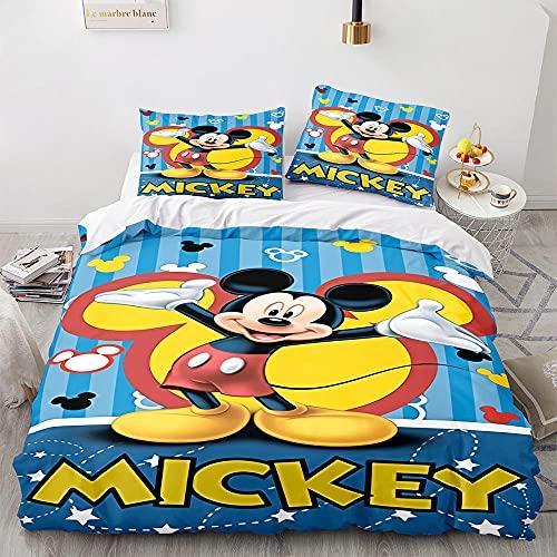 GSYHZL Funda de Almohada con diseño de impresión 3D de Mickey Mouse, Familia y los niños,Juego de Cama Suave y cómodo-10_210x240(3 Piezas)