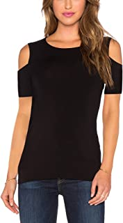 Women's Long Sleeve 3/4 Sleeve Off The Shoulder Cold Shoulder Blouse Tops Shirt