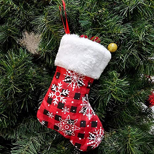Kerstkous 6 Stks/VEEL nieuwe Kerstmis decoratie items Kerstmis snoepzakken gift bags trompet Sneeuwvlok Kerst kousen merk: TONWIN